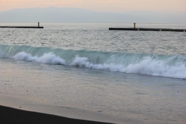蒲原海岸の潮の流れ