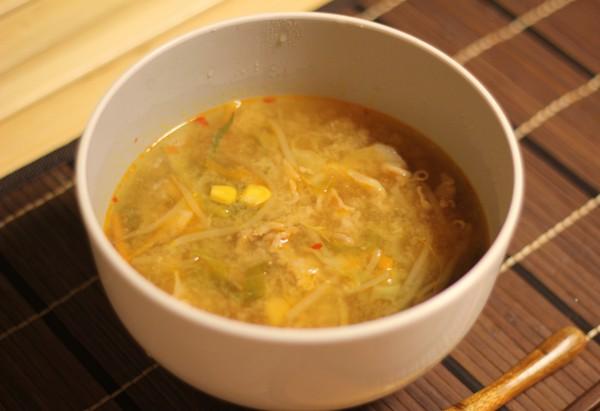 味噌ラーメンのスープ